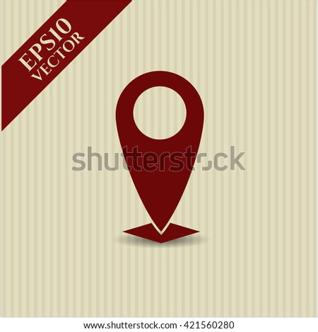 map pointer icon vector symbol flat eps jpg app web