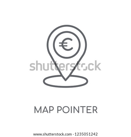 Map pointer linear icon. Modern outline Map pointer logo concept on white background from e-commerce and payment collection. Suitable for use on web apps, mobile apps and print media.