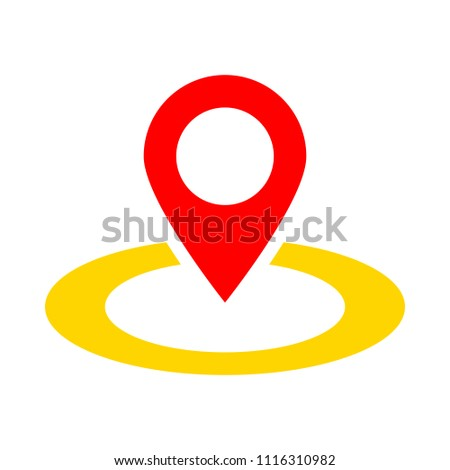 map pointer, map pin, map icon - arrow pin, compass GPS location