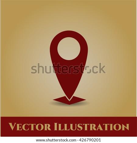 Map Pointer vector icon