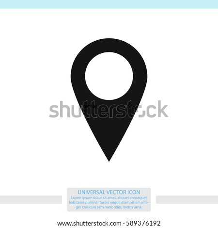 Map pointer vector icon.