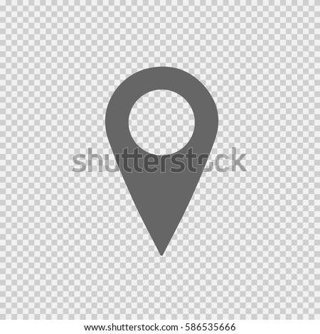 Map pointer vector icon eps 10. Mark symbol. Marker sign on transparent background.