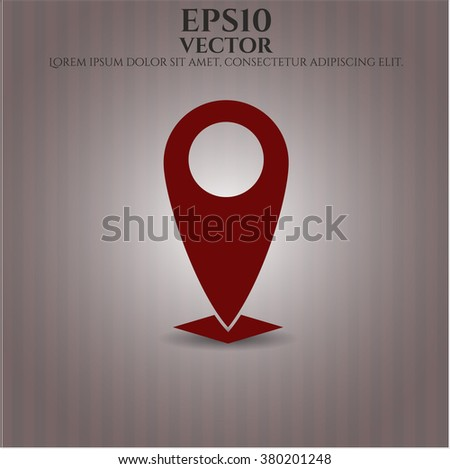 Map Pointer vector icon or symbol