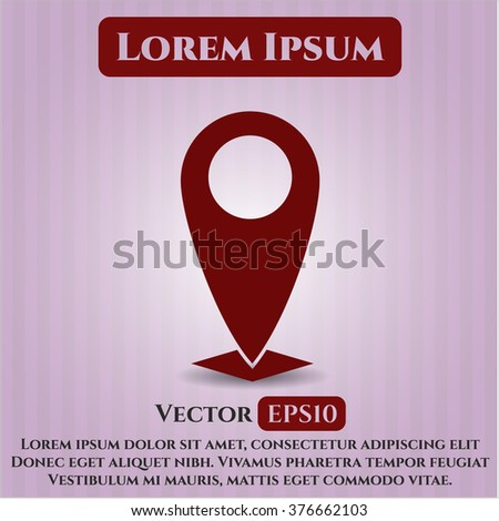 Map Pointer vector symbol