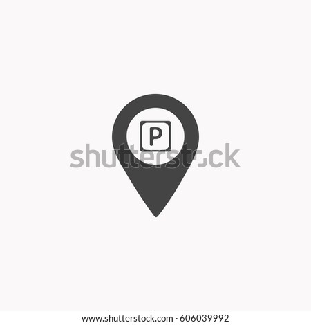 Map pointer with car icon.