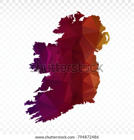 map polygonal ireland map