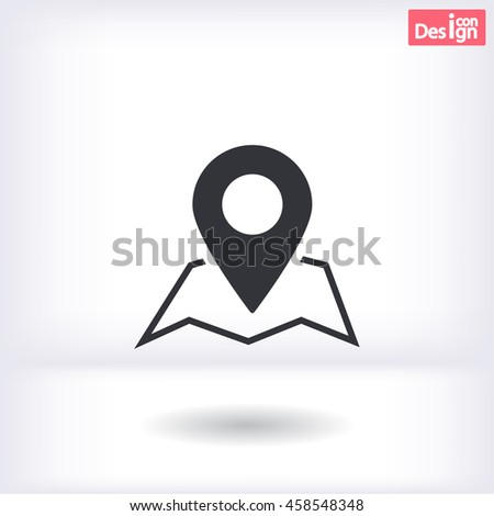 map search icon vector