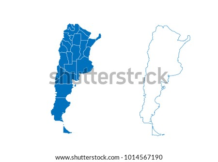 Free Vector Map Of Argentina Free Vector Art At Vecteezy - Argentina map outline