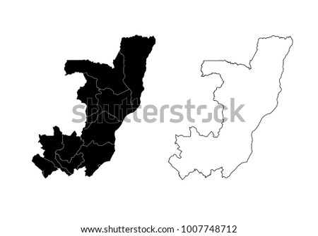 Vector Set Of State Map Silhouettes Download Free Vector Art - Map silhouette
