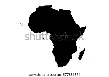 map silhouette africa