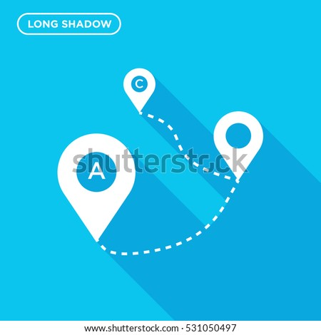 Map tag vector icon, direction sign symbol #531050497