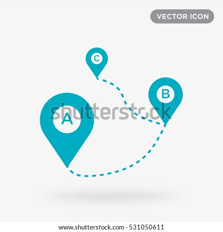 Map tag vector icon, direction sign symbol #531050611