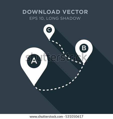 Map tag vector icon, direction sign symbol #531050617