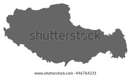 map   tibet  china