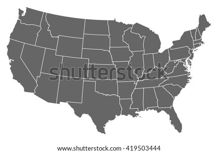 United States Map Vector Download Free Vector Art Stock Graphics