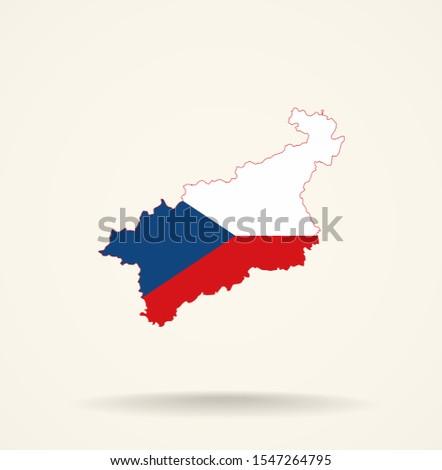 map ustinad labem region  czech