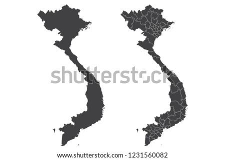 map   vietnam couple set   map