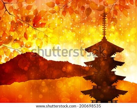 maple autumn leaves japan