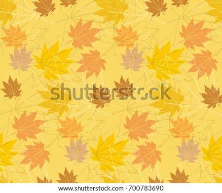 maple autumn patterns vectors