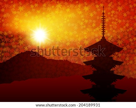 maple kyoto background