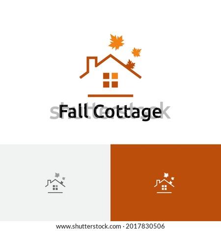 maple leaf house cottage autumn