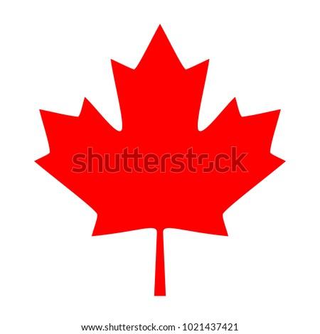 Maple Leaf Icon. Canadian Maple Leaf Icon