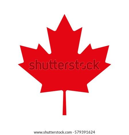 Maple leaf icon. Canadian symbol. Vector illustration.
