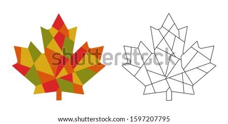 maple leaf   mosaic set 2 in 1