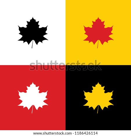 maple leaf sign vector icons