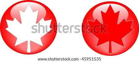 Maple leaf web buttons