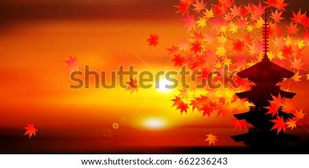 maple leaves landscape