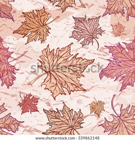 maple leaves on a grunge
