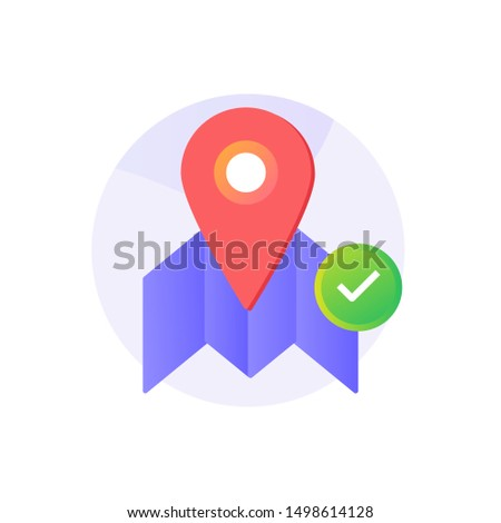 Maps Navigation  flat icon with gradient style variations. Perfect icon for  your project, business and presentation