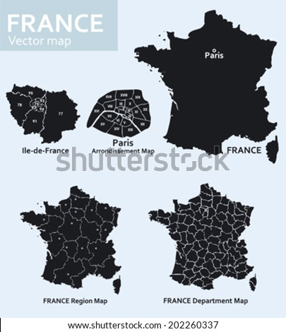 maps of france with its