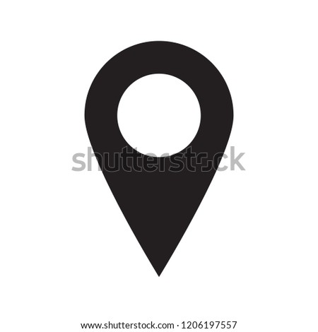 Maps pin. Location map icon.