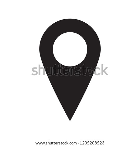 Maps pin. Location map icon. Location pin. Pin icon vector.