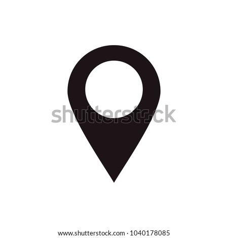 Maps pin. Location pin. Location map icon. Pin icon vector isolated on white background