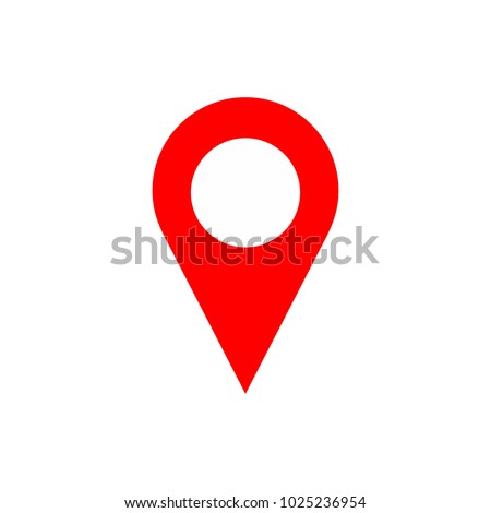 Maps pin. Location pin. Pin icon vector. Location map icon.