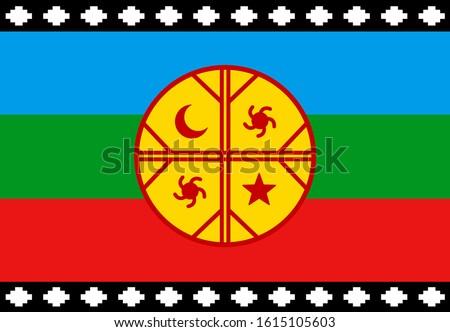 mapuche flag  emblem of the