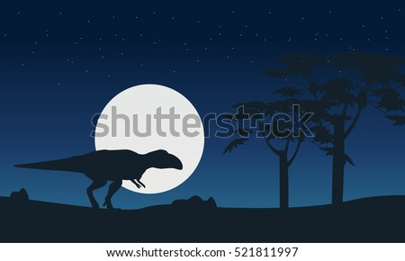mapusaurus on hill at night