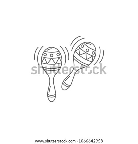 Maracas icon. Simple element illustration. Maracas symbol design template. Can be used for web and mobile on white background