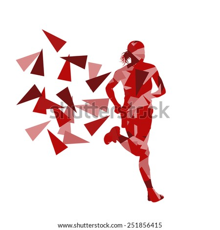 marathon runner abstract vector
