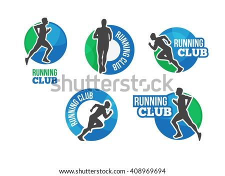 marathon vector logo running