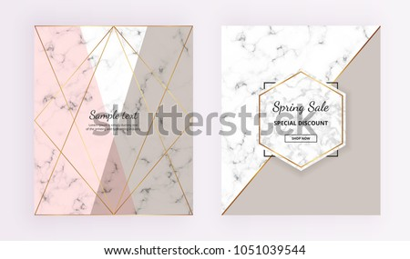 stock-vector-marble-geometric-cover-designs-pink-grey-gold-lines-background-trendy-template-for-designs