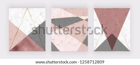 marble geometric design with