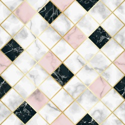 Marble Luxury Geometric Seamless Pattern