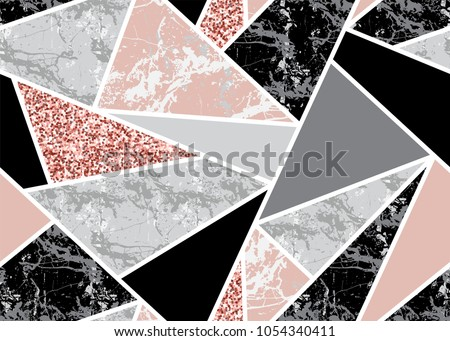 stock-vector-marble-seamless-background-with-geometric-shapes-and-pink-glitter-diamond-pattern-template-for