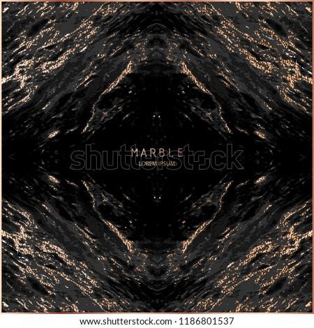 Marble with Gold, Sparkles background . Golden effect. Marbled grunge design. Patina element design. Copper foil. Bronze glitter texture. Blush gold vintage illustration.