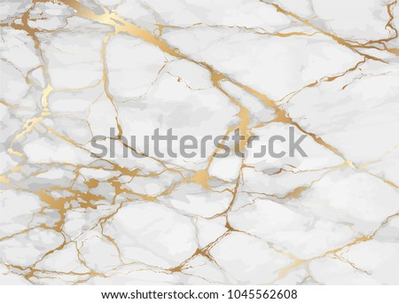 Marble with golden texture background vector illustration in height resolution
