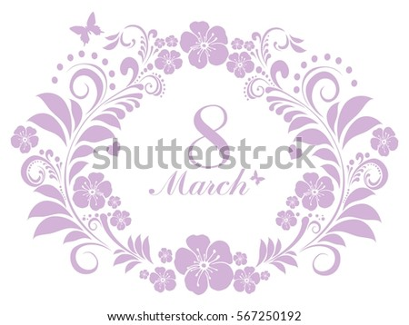 march 8 greeting card